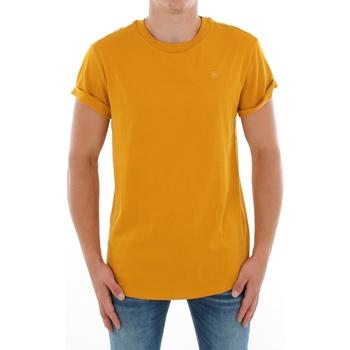 textil Herr T-shirts G-Star Raw SHELO R T SS DK GOLD Mostaza