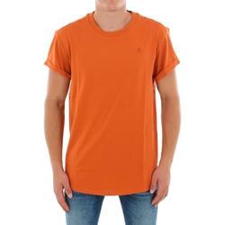 textil Herr T-shirts G-Star Raw SHELO R T SS DUSTY ROYAL ORANGE Naranja