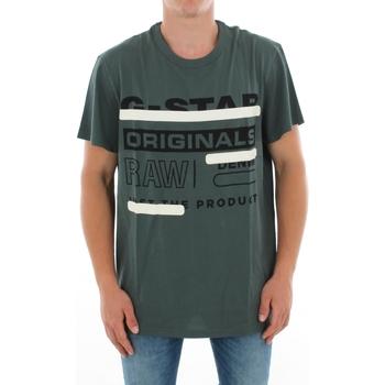textil Herr T-shirts G-Star Raw ZB GRAPHIC 5 R T SS BALSAM Verde