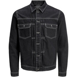 textil Herr Jeansjackor Jack & Jones 12169080 JJIWILLIAM JJJACKET AM 985 BLACK DENIM Negro