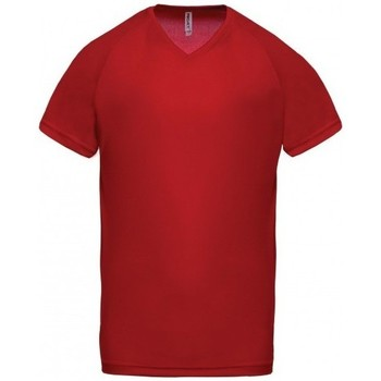 textil Herr T-shirts Proact T-Shirt Col V  Sport rouge