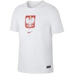 textil Herr T-shirts Nike Evergreen Crest Vit
