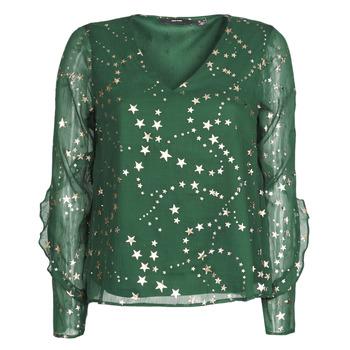 textil Dam Blusar Vero Moda VMFEANA Grön