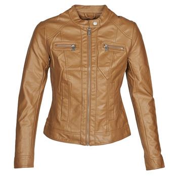 textil Dam Skinnjackor & Jackor i fuskläder Only ONLBANDIT Cognac