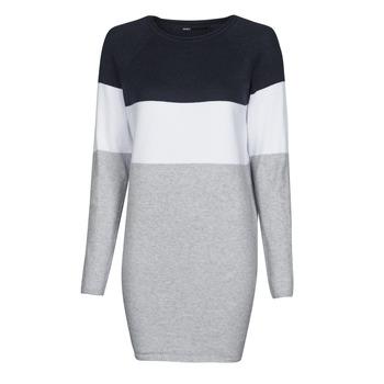 textil Dam Korta klänningar Only ONLLILLO Marin / Vit / Grå