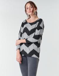 textil Dam Blusar Only ONLELCOS Grå / Svart