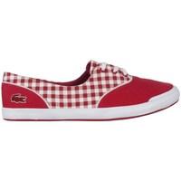 Skor Dam Sneakers Lacoste Lancelle Lace 3 Eye 216 1 Spw Vit, Röda