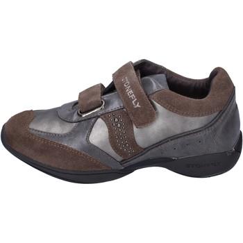 Skor Flickor Sneakers Stonefly sneakers pelle camoscio Grigio