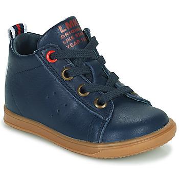 Skor Pojkar Höga sneakers Little Mary LEON Blå