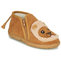 Skor Barn Tofflor Little Mary LIONZIP Cognac