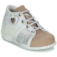 Skor Flickor Boots Little Mary VANILLE Silver / Mullvadsfärgad