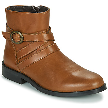 Skor Flickor Boots Little Mary TIMOTHY Cognac