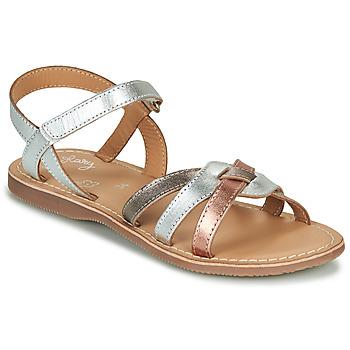 Skor Flickor Sandaler Little Mary LIGHT Silver / Brons / Rosa / Guld