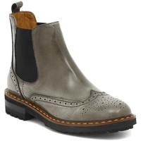 Skor Dam Boots Moda TRONCHETTO STILE INGLESE FUME Multicolore