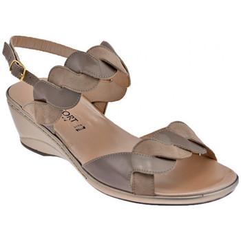 Skor Dam Sandaler Confort  Beige