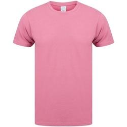 textil Herr T-shirts Skinni Fit SF121 Svartrosa