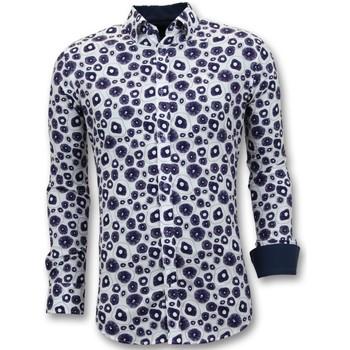 textil Herr Långärmade skjortor Tony Backer Lyx Twin S Digital Printing Vit