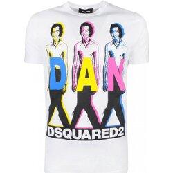 textil Herr T-shirts Dsquared S74GD0498 Vit