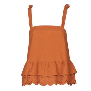textil Dam Blusar Betty London OULINE Rostfärgad