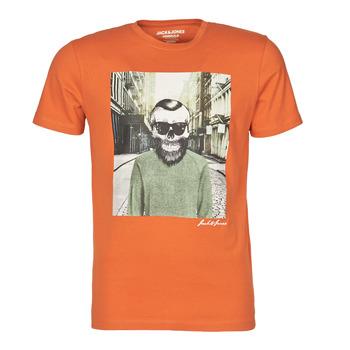 textil Herr T-shirts Jack & Jones JORSKULLING Orange
