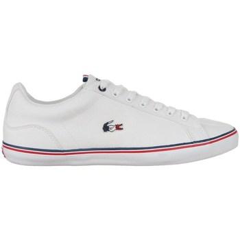 Skor Herr Sneakers Lacoste Lerond Vit, Röda