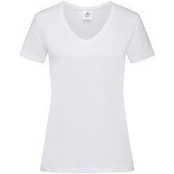 textil Dam T-shirts Stedman  Vit