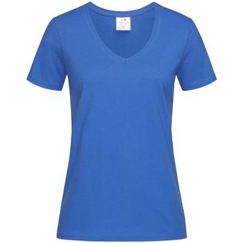 textil Dam T-shirts Stedman  Ljusa kungliga