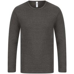 textil Herr Långärmade T-shirts Absolute Apparel  Kol