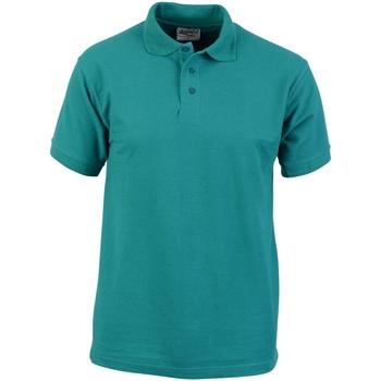 textil Herr Kortärmade pikétröjor Absolute Apparel  Smaragd
