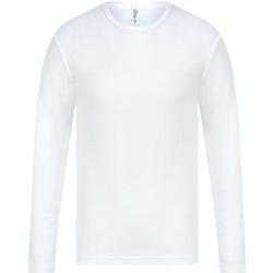 textil Herr Långärmade T-shirts Absolute Apparel  Vit