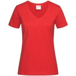 textil Dam T-shirts Stedman  Skarlakansröd