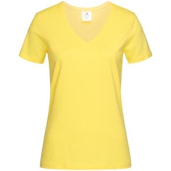 textil Dam T-shirts Stedman  Gul