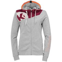 textil Dam Sweatshirts Kempa Veste femme  Core 2.0 gris foncé chiné/rouge