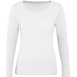 textil Dam Långärmade T-shirts B And C TW071 Vit