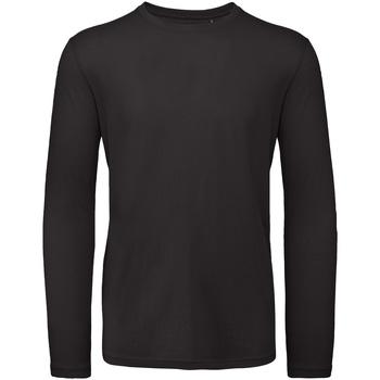 textil Herr Långärmade T-shirts B And C TM070 Svart