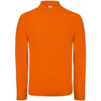 textil Herr Långärmade pikétröjor  B And C PUI12 Ljus orange