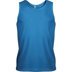 textil Herr Linnen / Ärmlösa T-shirts Proact Débardeur  Sport bleu eau