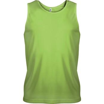 textil Herr Linnen / Ärmlösa T-shirts Proact Débardeur  Sport vert fluo