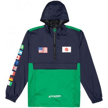 textil Herr Vår/höstjackor Huf Jacket flags anorak Blå