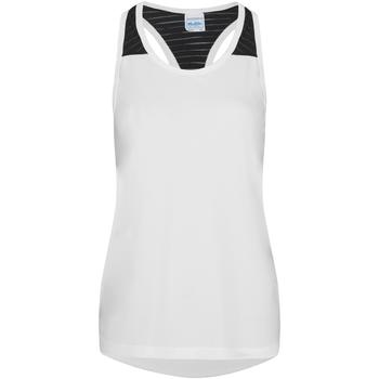 textil Dam Linnen / Ärmlösa T-shirts Awdis JC027 Arctic White