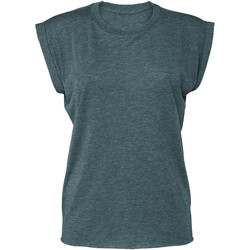 textil Dam T-shirts Bella + Canvas BE8804 Heather Teal