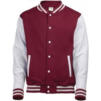 textil Dam Sweatshirts Awdis JH43F Burgundy/Heather Grey