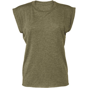 textil Dam T-shirts Bella + Canvas BE8804 Heather Olive