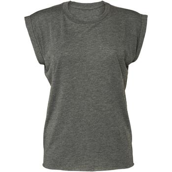 textil Dam T-shirts Bella + Canvas BE8804 Mörkgrått ljummet