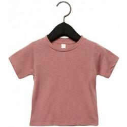 textil Barn T-shirts Canvas CA3413T Mauve Triblend