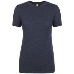 textil Dam T-shirts Next Level NX6710 Vintage marinblått