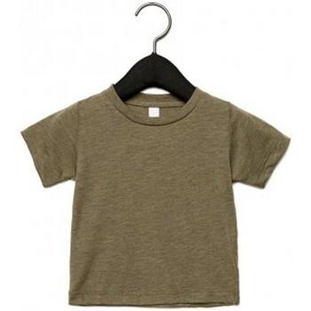 textil Barn T-shirts Canvas CA3413T Oliv triblend