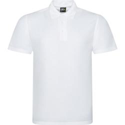 textil Herr Kortärmade pikétröjor Prortx RX101 Vit