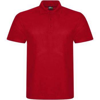 textil Herr Kortärmade pikétröjor Prortx RX101 Röd