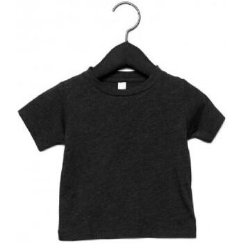 textil Barn T-shirts Canvas CA3413T Charcoal Black Triblend